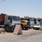 کامیون داران برخواری اعتصاب کردند