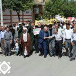 مراسم راهپیمایی روز جهانی قدس در شهر دستگرد برخوار برگزار شد