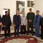 فرمانده ناحیه مقاومت بسیج برخوار با خانواده شهدا دیدار کرد