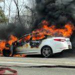 آتش سوزی خودرو در دولت آباد/نگه داری الکل در خودرو