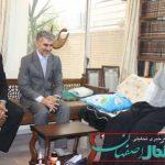 دیدار با حضرت آیت الله ناصری اولین برنامه کاری فرماندار برخوار