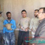 دیدار بخشدار حبیب آباد از اردوهای جهادی روستای مرغ
