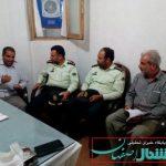 بازدید فرمانده انتظامی شهرستان برخوار از مرکز مشاوره آستان سیدالکریم