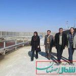 بازدید بخشدار حبیب آباد از سیستم تصفیه فاضلاب کشتارگاه دام